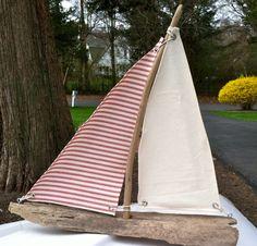 Custom Driftwood Sailboat by ShellyByTheSea on Etsy, $40.00