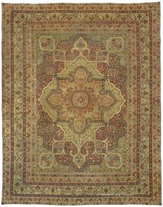 LAVER KIRMAN, Western Persian 11ft 10in x 15ft 0in Circa 1850. This piece offers a best-of-the-best example of Laver Kerman artistry. Its majestic medallion is greatly enhanced by dramatic, exquisitely contoured outlining.