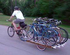 trailer of bikes
