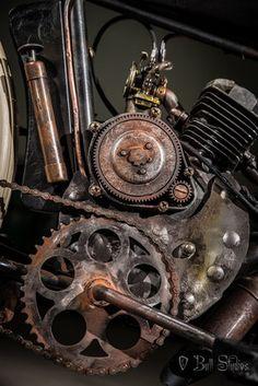 Motorised Bike, Black Indians, Custom Motorcycles, Road Bike, Track, Motorbikes, Board, Steampunk, Workshop