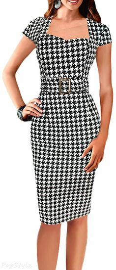Vintage Wrapped Prom Homecoming Dresses Hollowed Back Size 12 Cute Dresses, Beautiful Dresses, Vintage Dresses, Short Dresses, Dresses For Work, Dress Skirt, Bodycon Dress, Peplum Dress, Work Attire