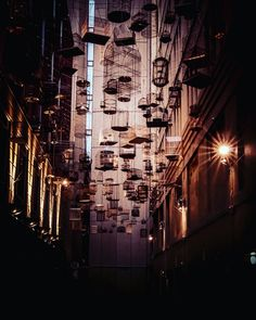 Angel Place birdcages art installation, Sydney, Australia  #travel #photography #angelplace #birdcage #Sydney #australia
