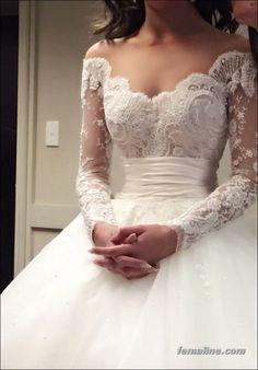 222 beautiful long sleeve wedding dresses (74)