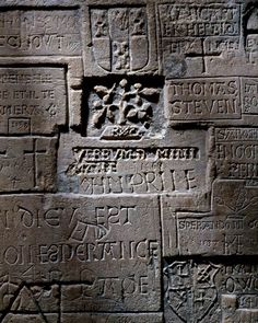 Graffiti at the Tower of London.  Hipster English prisoners, Defaming walls in Latin since before you were born.