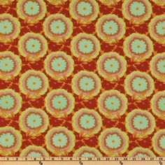 Amy Butler Soul Blossoms Passion Buttercups Honeydew from Designed by Amy Butler for Westminster Fabrics, this cotton print fabric is perfect for quilt or craft projects, apparel and home décor accents. Sewing Hacks, Sewing Crafts, Sewing Projects, Craft Projects, Vinyl Fabric, Red Fabric, Amy Butler Fabric, Drapery Fabric, Curtains