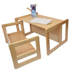 Multifunctional Benches and Tables Children's Wooden Furniture Light Set of Two on Etsy, $142.24