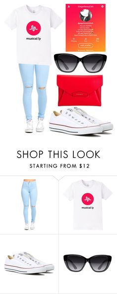 """""""I love musical.ly!!!"""" by adkins-fahit ❤ liked on Polyvore featuring Converse, Elizabeth and James and Givenchy"""