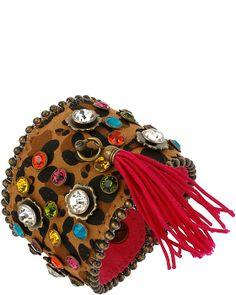 ST BARTS LEATHER WRAP BRACELET MULTI accessories jewelry bracelets fashion