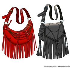 Handbag / Purse design illustration sketch drawing - CAD / Computer rendered by Emily O'Rourke at Coroflot.com
