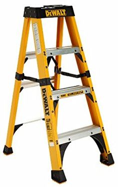 DeWalt Fiberglass Stepladder Type IA with Duty Rating, – Online Tools & Supply Store Dewalt Power Tools, Mobile Workshop, Electrical Installation, Steel Panels, Tools Hardware, Work Tools, Tool Storage, Storage Ideas, Tools And Equipment