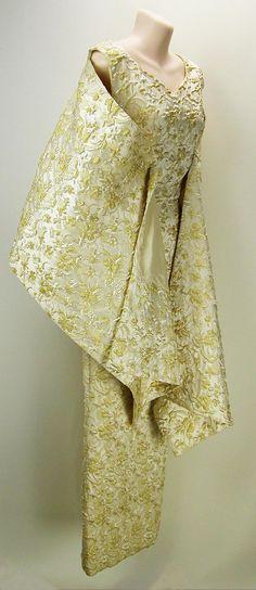 VTG 60s Gold Brocade Formal / Evening Dress by Nettetiques on Etsy, $60.00