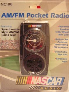 Official Nascar AM/FM Pocket Radio by EMERSON featuring Speedometer Style AM/FM Radio Dial + Dynamic Speaker with Steel Rim Grill NC188 by Emerson. $49.99. Official Nascar AM/FM Pocket Radio by EMERSON featuring Speedometer Style AM/FM Radio Dial + Dynamic Speaker with Steel Rim Grill. NC188