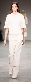 Calvin Klein Spring 2014 | New York Fashion Week | Channel the sports luxe trend in all-white with boxy trousers and a tee