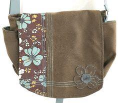 Haiku Sharon Eisenhauer Messenger Cross Body Shoulder Bag Purse Brown Blue | eBay