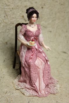 A Regency doll made for me by Elisa Fenoglio