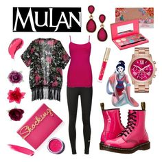 """""""Mulan"""" by jadebowman on Polyvore featuring adidas, BKE core, Dr. Martens, Charlotte Olympia, Accessorize, Style & Co., Stila, Lime Crime and NARS Cosmetics"""
