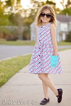 Dress Sewing Pattern Girls Dress Patterns Easy by littlelizardking