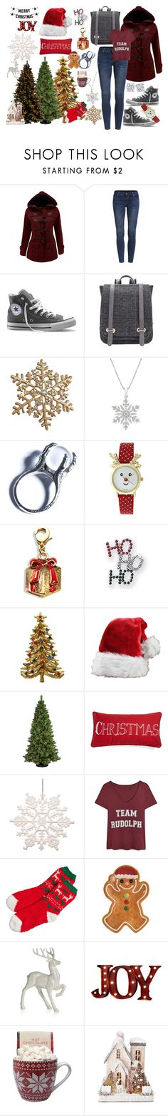 """Merry Christmas"" by gemsandhorses ❤ liked on Polyvore featuring Converse, Kill Star, General Foam, Levtex, Bloomingville, Fitz and Floyd, Disney and Order Home Collection"