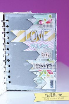 Book cover with paper ribbon strips