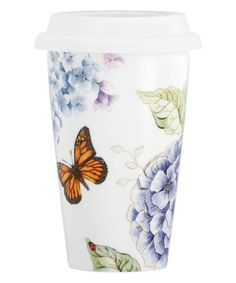 Another great find on #zulily! Butterfly Meadow 12-Oz. Ceramic Travel Mug #zulilyfinds