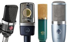 Home recording studio microphones