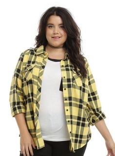 Harry Potter Hufflepuff Plaid Girls Woven Plus Size | Hot Topic