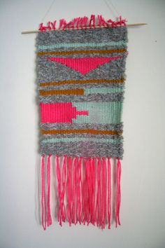 Neon Southwestern Weaving by MOONTHANGS on Etsy, $45.00