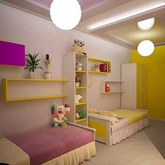 cheap decor ideas for kids room | pink and yellow room decorating colors, kids bedroom decorating ideas ...