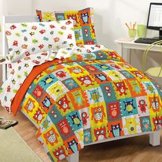 Found it at Wayfair - Silly Monsters Bed-In-A-Bag Set
