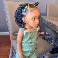 Black Baby Girl Hairstyles, Little Girls Natural Hairstyles, Toddler Braided Hairstyles, Natural Hairstyles For Kids, Kid Hairstyles, Cabello Afro Natural, Girls Braids, Hair Styles, Babies