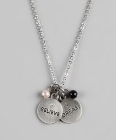 Take a look at this 'Dream' & 'Believe' Charm Necklace on zulily today!