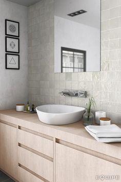 Mallorca by Equipe. Tiles, Minimalist Bathroom Design, Ceramic Tiles, Kitchen Wall Tiles, House Tiles, Bathroom Design, Wall Tiles, Mold In Bathroom, Tile Bathroom