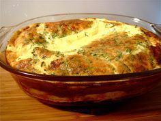 KITCHEN FIDDLER : Baked Egg Custard With Gruyere and Chives