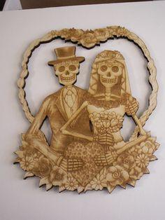 Bride & Groom Sugar Skulls,Day of the Dead,Sugar Skulls,Calavera,Laser Cutouts