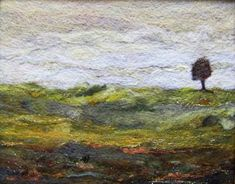 No.650 Lone Tree Too  Needlefelt Art Large by Deebs on Etsy, $62.00