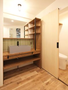 LAVATORY/POWDER ROOM/TOILET/REST ROOM/TILE/洗面室/トイレ/洗面台/洗面器/洗面カウンター/ヴィンテージ/リノベーション/フィールドガレージ/FIELDGARAGE Inc. Natural Interior, Washroom, Building A House, Toilet, House Design, Interior Design, Home Decor, Hotels, Life