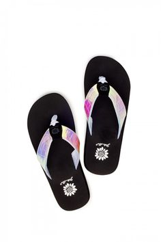 Ananas Sandal in Black White