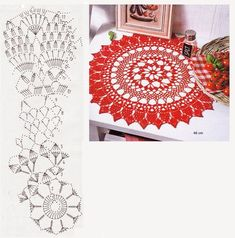 Kira scheme crochet: Scheme crochet no. Crochet Doily Diagram, Crochet Doily Patterns, Crochet Chart, Thread Crochet, Filet Crochet, Crochet Designs, Crochet Doilies, Crochet Cushions, Crochet Tablecloth