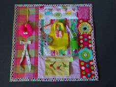 Bright and Bold   Fidget Quilt Tactile  Bright by EndearingDignite, $40.00