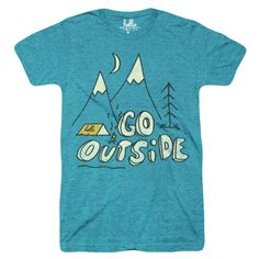 Go Outside (Adult & Kids) Evergreen Tri-Blend