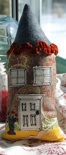 House pillow front by melimeloart