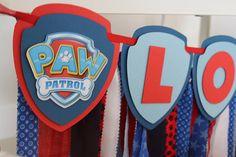 Paw Patrol Happy Birthday Banner Paw Patrol Name Fabric Banner