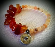 Carnelian and pink agate