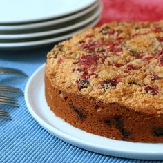 A vanilla-cardamom-cranberry cake. Interesting. And possibly delicious!