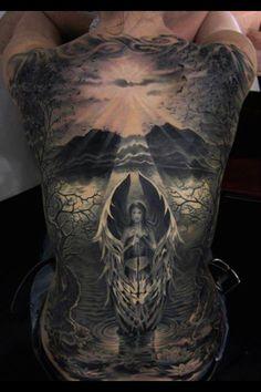 Skull angel back tattoo | Tattoos | Pinterest