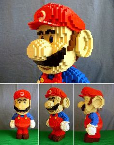 This just combined my love of Legos and Mario in one. I'm extremely happy to see this! Though I prefer Luigi.