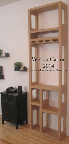 Étagère-Bar-Boisson-Carton / Estanteria-bara hecha de cartón => creación original, no reproducir.