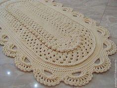 Текстиль, ковры ручной работы. Ярмарка Мастеров - ручная работа. Купить Ковер вязаный из шнура овальный Элегантный-2. Handmade.
