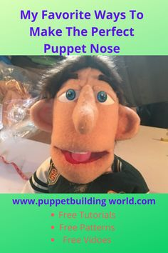 There are many ways to make puppet noses. From something as simple as a button to as complex as a realistic human nose carved out of foam. Here are some of my favorite ways. Human Puppet, Ventriloquist Puppets, Professional Puppets, Animal Noses, Puppet Patterns, Sock Puppets, Puppet Making, Plastic Eggs, Styrofoam Ball