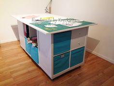 handmade by Kreckwitz: cutting table or Pimp-my-IKEA - # .- handmade by Kreckwitz: Zuschneidetisch oder Pimp-my-IKEA – … handmade by Kreckwitz: cutting table or Pimp-my-IKEA – - Diy Kitchen Projects, Diy Projects To Sell, Diy Kitchen Decor, Diy Organisation, Sewing Room Organization, Organizing, Ikea Regal, Backyard Furniture, Cutting Tables